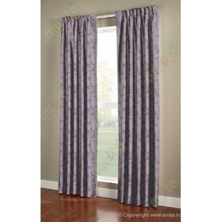 Purple brown botanical design polycotton main curtain designs