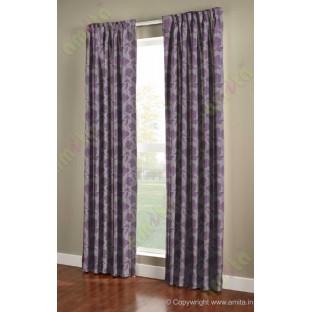 Purple brown floral design polycotton main curtain designs