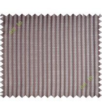 Chocolate brown vertical pencil stripes polycotton main curtain designs