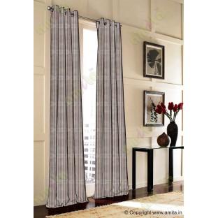 Chocolate brown vertical pencil stripes polycotton main curtain designs