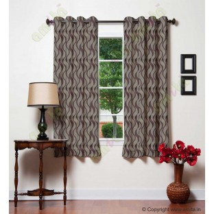 Chocolate brown vertical wevy polycotton main curtain designs