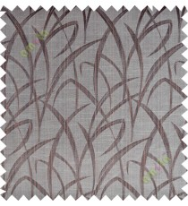 Chocolate brown maze leaf polycotton main curtain designs