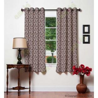 Chocolate brown leafy design polycotton main curtain designs