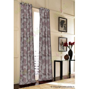 Chocolate brown floral design polycotton main curtain designs