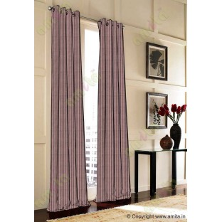 Dark brown vertical pencil stripes polycotton main curtain designs