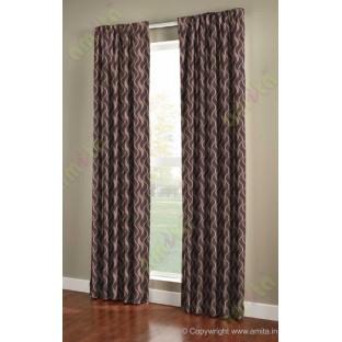 Dark brown vertical wevy polycotton main curtain designs