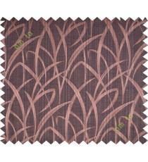 Dark brown maze leaf polycotton main curtain designs