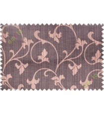 Dark brown botanical design polycotton main curtain designs
