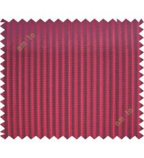 Red vertical pencil stripes polycotton main curtain designs