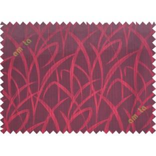Red maze leaf polycotton main curtain designs