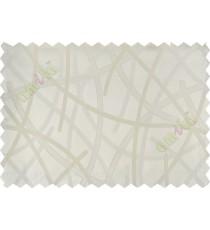 White shiny cross lines polycotton main curtain designs