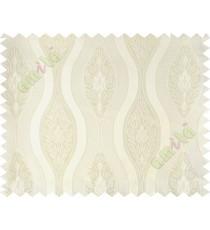 White motifs polycotton main curtain designs