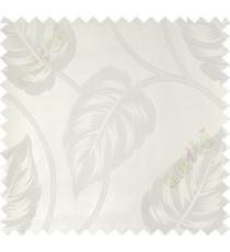 White big leaf polycotton main curtain designs