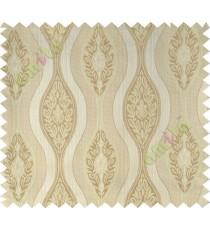 Beige motifs polycotton main curtain designs