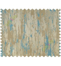 Aqua blue beige texture contemporry polycotton main curtain designs