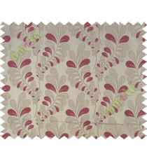 Pink trendy leaf polycotton main curtain designs