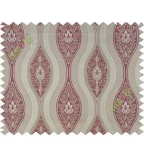 Pink beige motifs polycotton main curtain designs