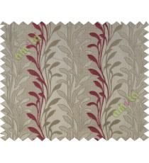 Pink beige leafy design polycotton main curtain designs