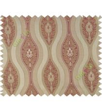 Orange brown motifs polycotton main curtain designs