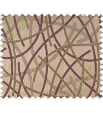 Dark purple brown shiny cross lines polycotton main curtain designs