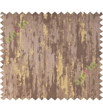 Brown yellow texture contemporry polycotton main curtain designs