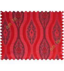 Red black motifs polycotton main curtain designs
