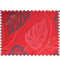 Red big leaf polycotton main curtain designs