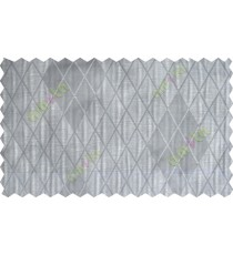 Grey beige black ikat design poly sheer curtain designs
