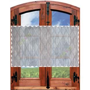 Grey beige black ikat design poly sheer curtain designs