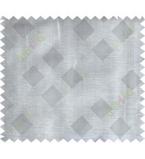Grey beige black geometrical square design poly sheer curtain designs