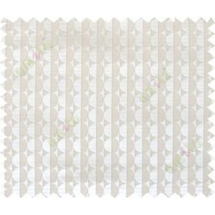 Beige grey geometric half circle vertical lines poly main curtain designs