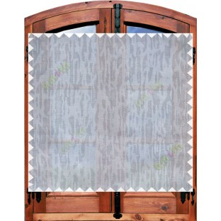 Brown white grey beautiful self texture poly sheer curtain designs