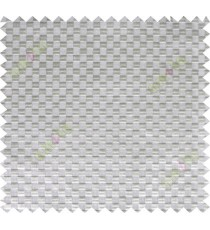Grey geometric small squares design poly sheer curtain designs