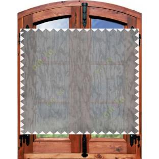 Brown grey beautiful self texture poly sheer curtain designs