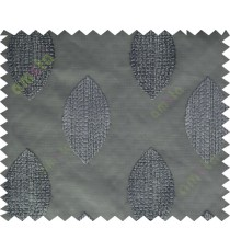 Black grey brown contemporary leaf design sheer main curtain designs