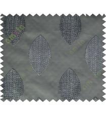 Black grey brown contemporary leaf design sheer curtain designs
