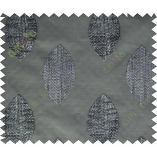 Black grey brown contemporary leaf design sheer main curtain designs