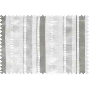 White grey beige vertical bold stripes poly sheer curtain designs