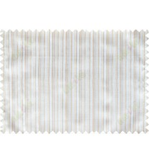 Brown white grey vertical pin stripes poly sheer curtain designs
