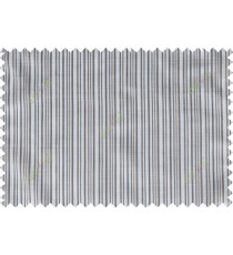 Chocolate brown white vertical pin stripes poly sheer curtain designs