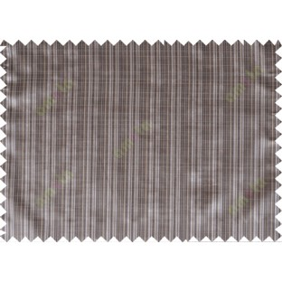Chocolate brown yellow color stripes poly main curtain designs