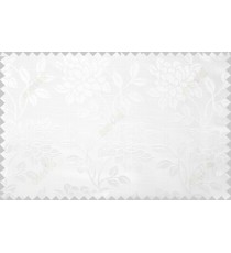 Pure white beautiful floral leaf design poly main curtain designs