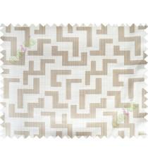 Beige grey color elegant contemporary design poly main curtain designs