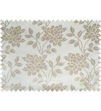 Beige grey beautiful floral leaf design poly main curtain designs