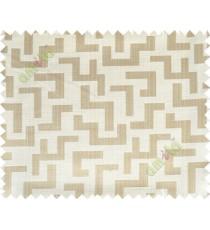 Beige grey yellow color elegant contemporary design poly main curtain designs