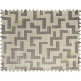 Grey beige color elegant contemporary design poly main curtain designs