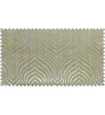 Green grey color beautiful seamless retro design poly main curtain designs