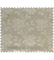 Green grey beautiful floral leaf design poly main curtain designs