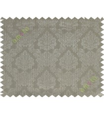 Green grey traditional damask design poly main curtain designs