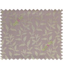 Brown purple grey floral design leafy texture poly main curtain designs